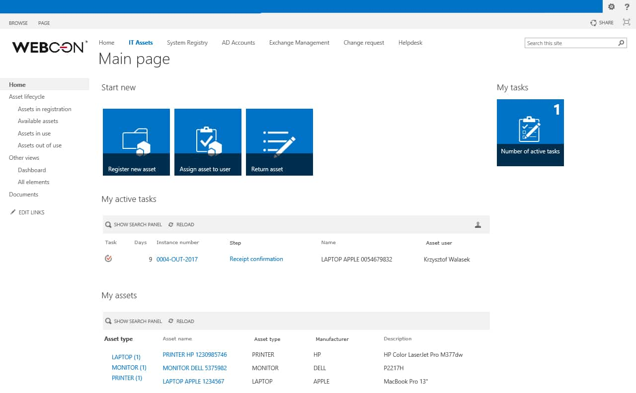 asset-management-sharepoint-form