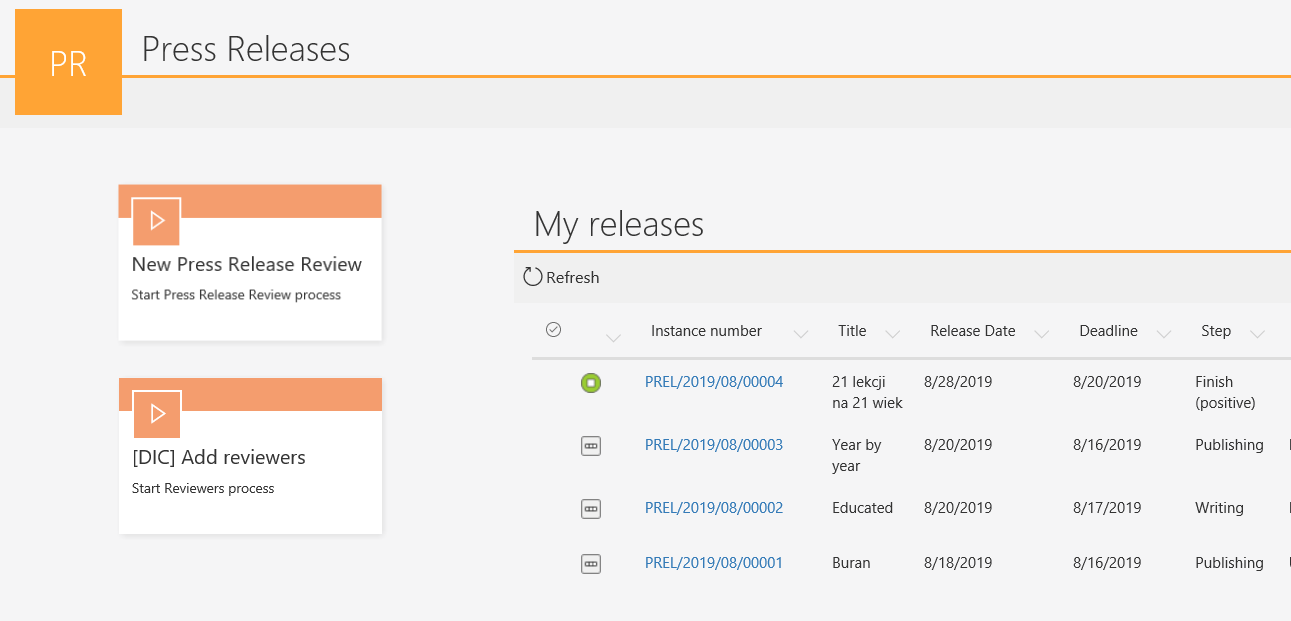 press-releases-application-dashboard-in-webcon-bps-portal